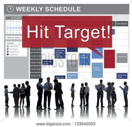 Hit Target Goal Aim Aspiration Business Customer Concept