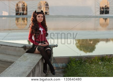 Cosplayer Dressed As The Characters Rin Tohsaka