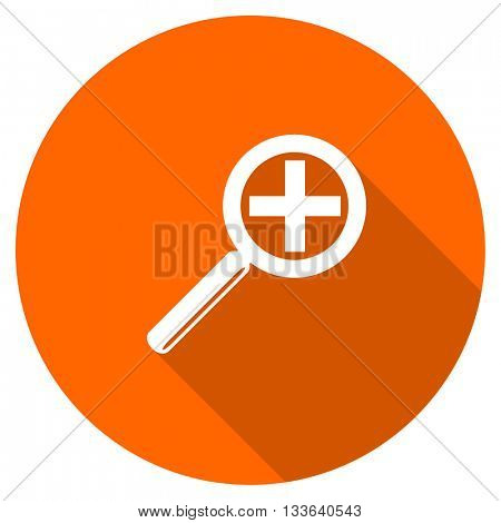 lens vector icon, circle flat design internet button, web and mobile app illustration