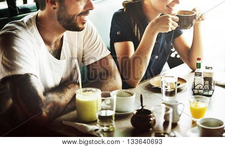 Cafe Coffee Restaurant Resting Relaxation Chill Concept