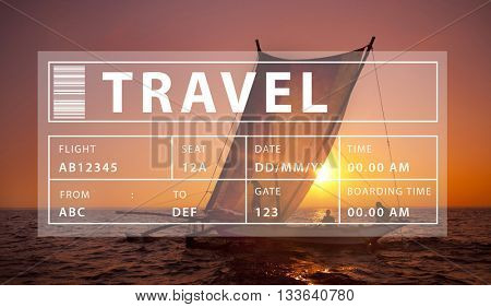 Flight Travel Vacation Holiday Destination Concept