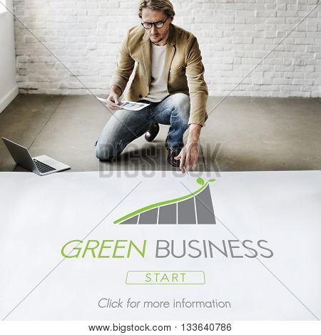 Green Business Conservation Responsibility Eco Concept
