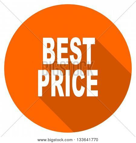 best price vector icon, circle flat design internet button, web and mobile app illustration