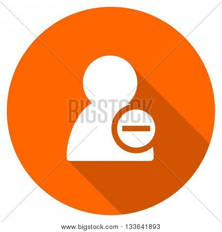 remove contact vector icon, circle flat design internet button, web and mobile app illustration