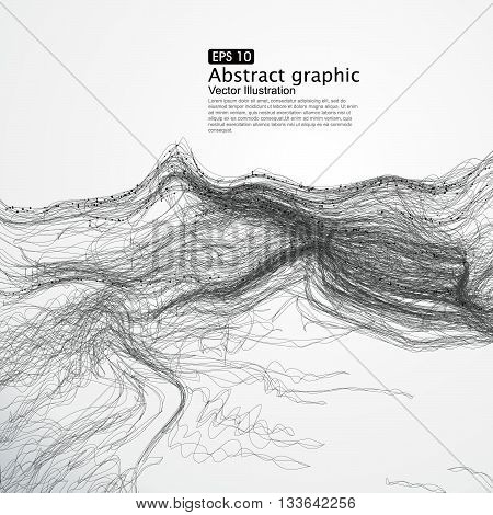 complex lines consisting of Abstract graphic,Vector illustration.
