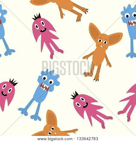 set of monsters in Flete muzzle funny children painted different pattern