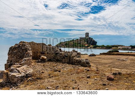 Ancient Ruins Of Nora In Sardinia