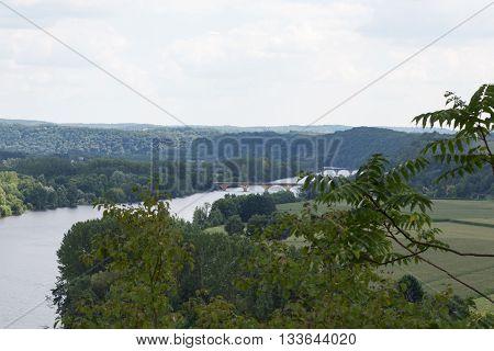 The Dordogne river winds through France's Perigord region