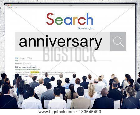 Anniversary Year Annual Celebration Concept