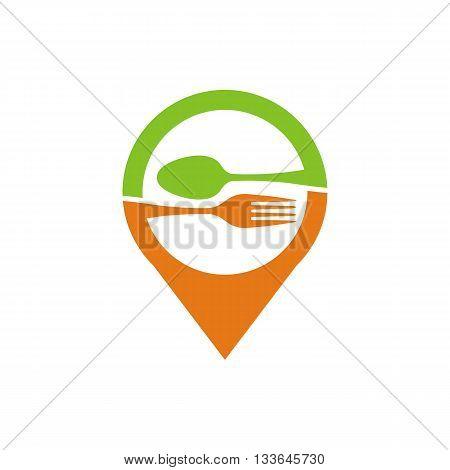 logo icon food symbol cutlery design vector