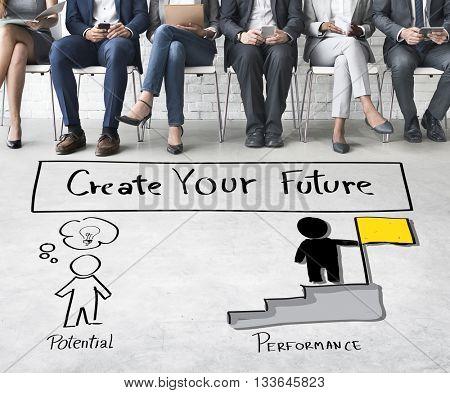 Create Your Future Aspiration Goals Concept