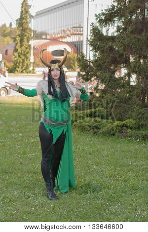 Cosplayer Dressed As The Character Lady Loki From The Avengers