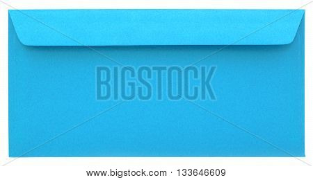 Blue paper envelope isolated on white background