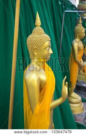 Ancient Buddha statue in Thailand, Thai temple