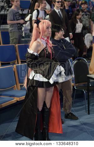 Cosplayer Dressed As Character Krul Tepes From Anime