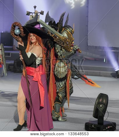 Cosplayer Dressed As Character Sorceress
