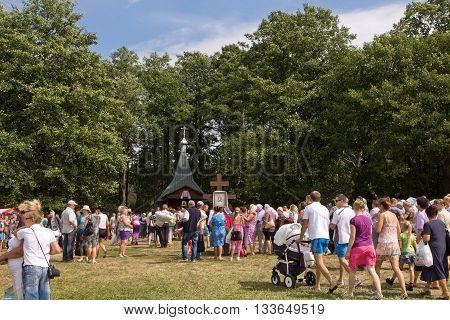 Slavgorod, Belarus - August 16: The Blue Krynica. Mass Pilgrimage For Healing To Honey Spas August 1