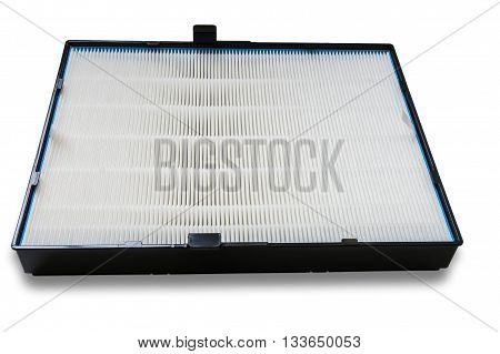 High Efficiency Air Filter For Hvac System. Isolated On White Ba