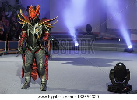 Cosplayer Dressed As The Character Dragon Knight