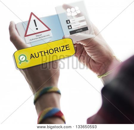 Authorize Assessment Access Private Security System Concept