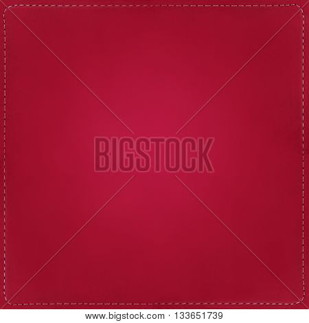 Red textile background, pattern with seams around