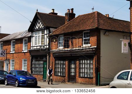 BEACONSFIELD ENGLAND - JUNE 2016: The old town of Beaconfield dating back to c.1185