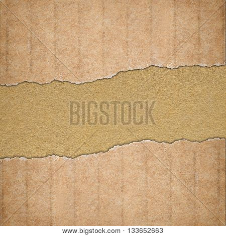 Background made of brown torn cardboard paper