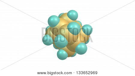 Adamantane is a colorless crystalline chemical compound with a camphor-like odor. 3d illustration