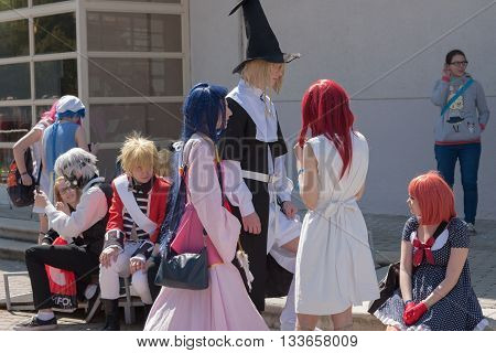 Group Of Cosplayers  At Animefest, Anime And Manga Convention