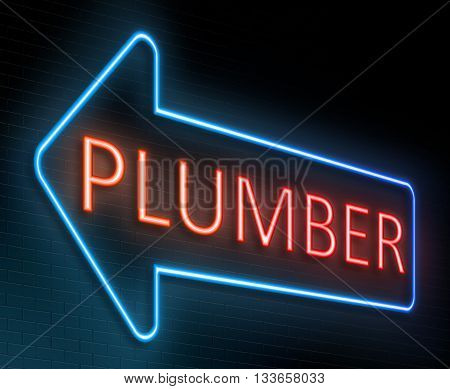 Plumber Sign Concept.