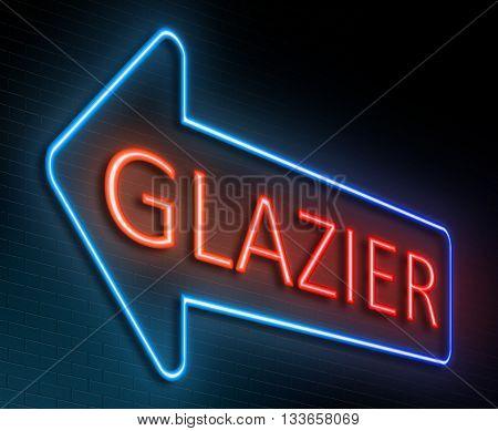 Glazier Sign Concept.