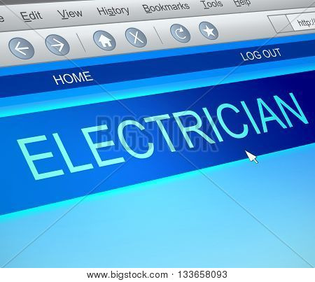 Electrician Online Concept.