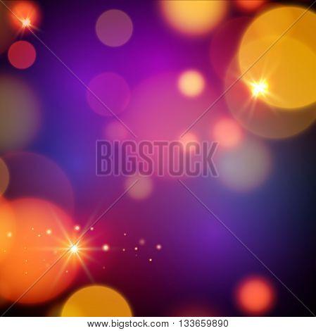 Magic background design. Vector magic lights background.
