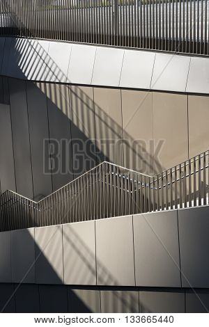Milan (Lombardy Italy): stairs in the Tre Torri square
