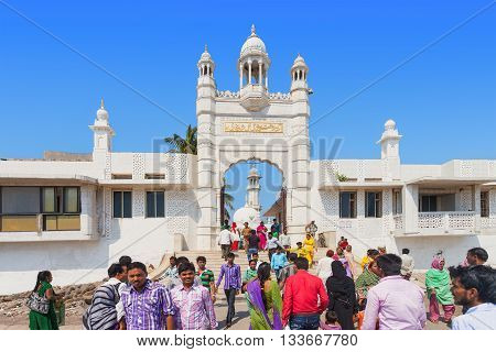 Mumbai, India - February 27: Unidentified People At Haji Ali Dargah On February, 27, 2014, Mumbai, I