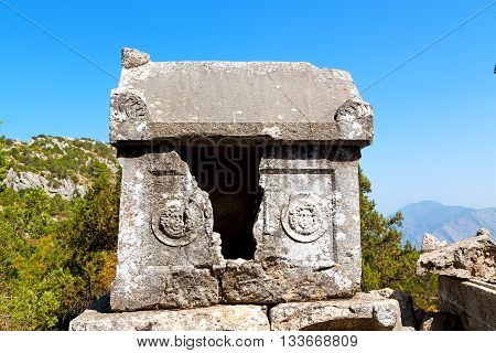 Anatolia Heritage Ruins   Termessos Old Architecture