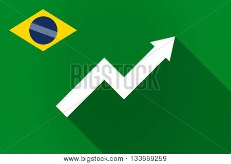 Long Shadow Brazil Flag With A Graph