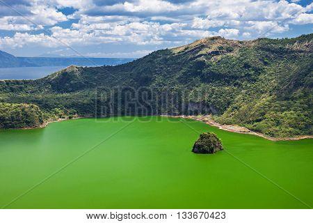 Lake Inside Taal Volcano