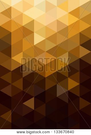 Abstract gold background. Geometric abstract background, pastel color. Modern and stylish abstract design poster, cover, card design. Vintage texture, pattern and geometric elements. Raster copy
