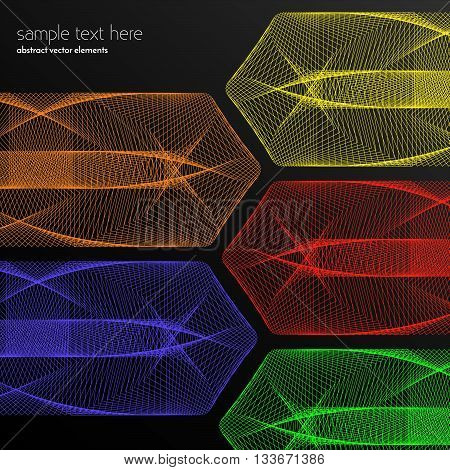 Vector abstract waves and lines background. Abstract shiny lines. Waved design element. Curvy waves vectors. Abstract template background. Colorful blend effect vectors.