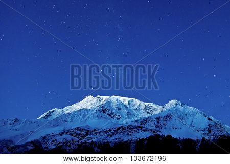Gangapurna And Annapurna Mountains