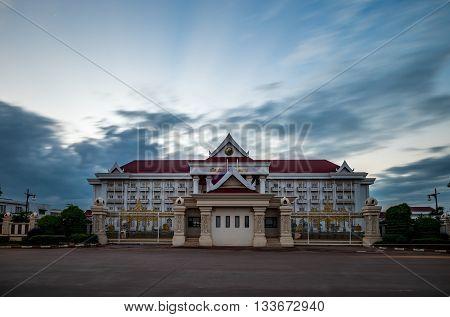 Goverment office in Vientiane capital. Vientiane, Laos