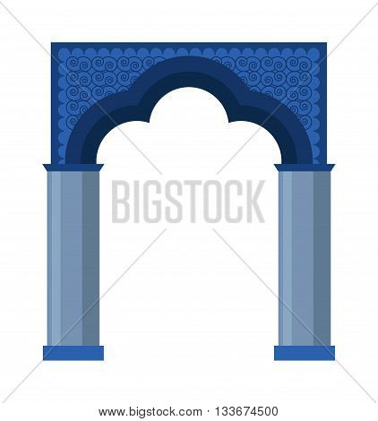 Arch vector icon isolated and architecture ancient frame arch. Column entrance design arch and arch classical construction. History antique culture pillar exterior facade arch