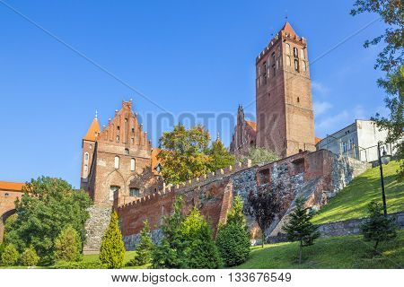 KWIDZYN, POLAND - OCTOBER 1: Medieval gothic castle of the Teutonic Knights on October 1, 2011 in Kwidzyn.