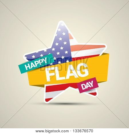 Happy flag day vector background. flag day USA banner. Happy flag day badge. Flag day Sale