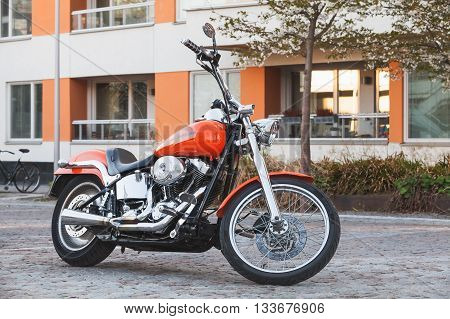 Motorcycle With Chrome, Harley-davidson