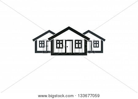 Abstract simple country houses vector illustration homes image.