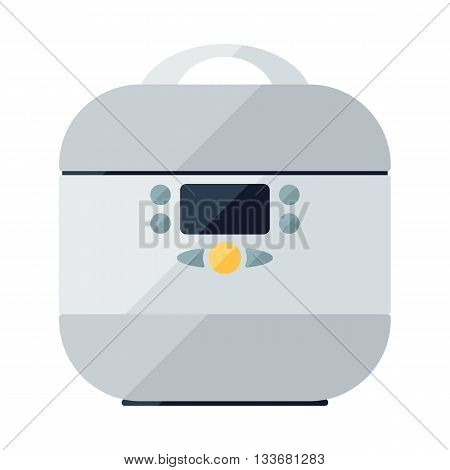 Flat icon of multi cooker electric oven