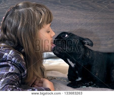 Kiss the girl and the dog. Friendship, love and dogs teen