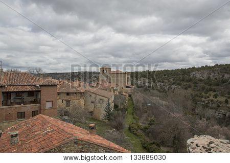 Calatañazor views from the castle in Soria, Castilla leon, Spain